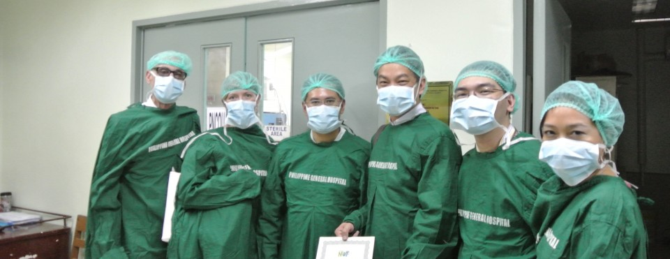 "An image of a group of people in scrubs with the words ""Philippine General Hospital"""